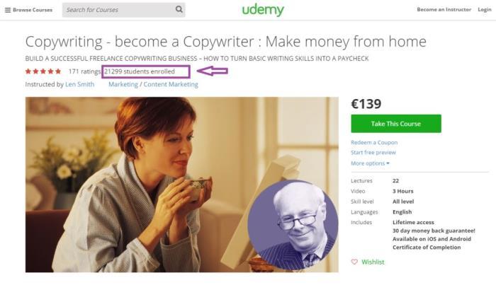 truco SEO copywriting udemy usuarios