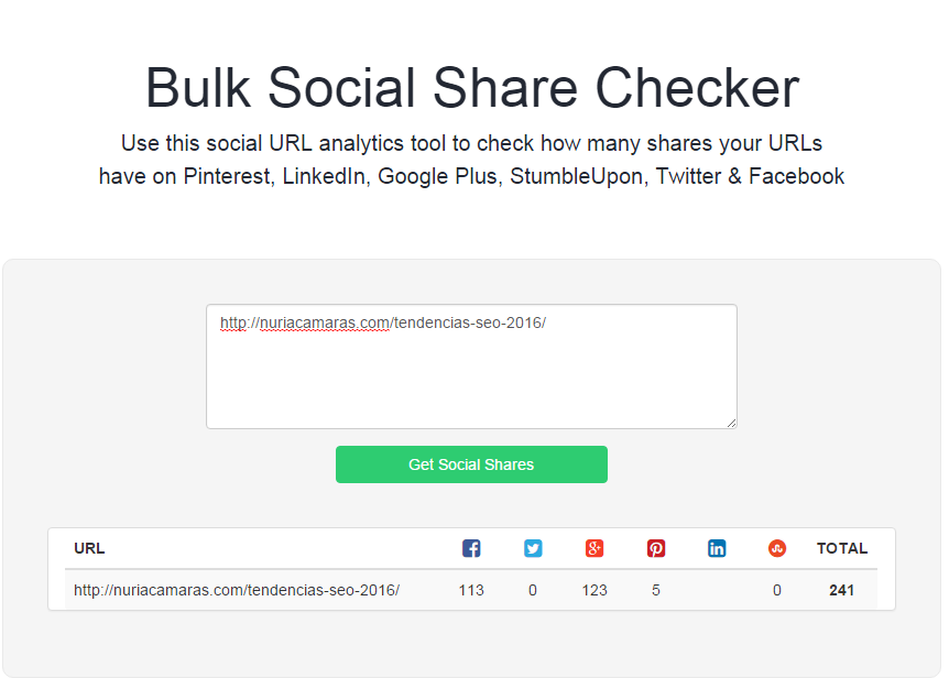 herramientas marketing bulk social share checker