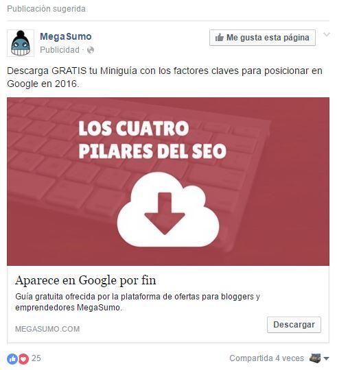 anuncio megasumo facebook ads