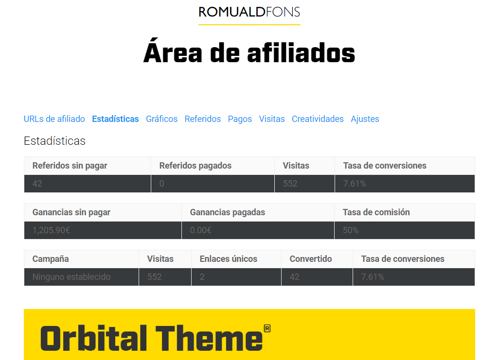 afiliados orbital theme