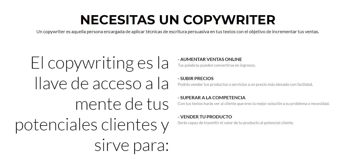 para qué sirve el copywriting