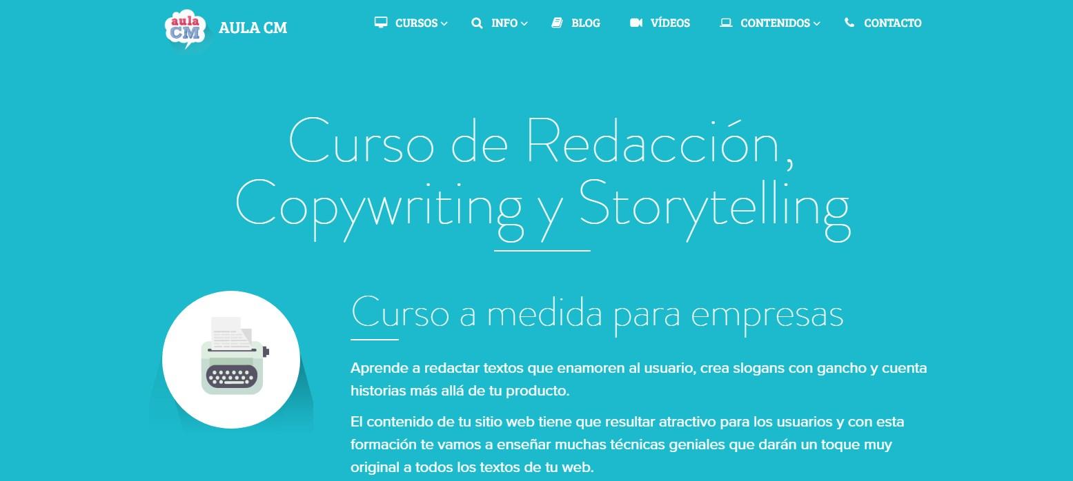 curso de redacción, copywriting y storytelling de aula cm