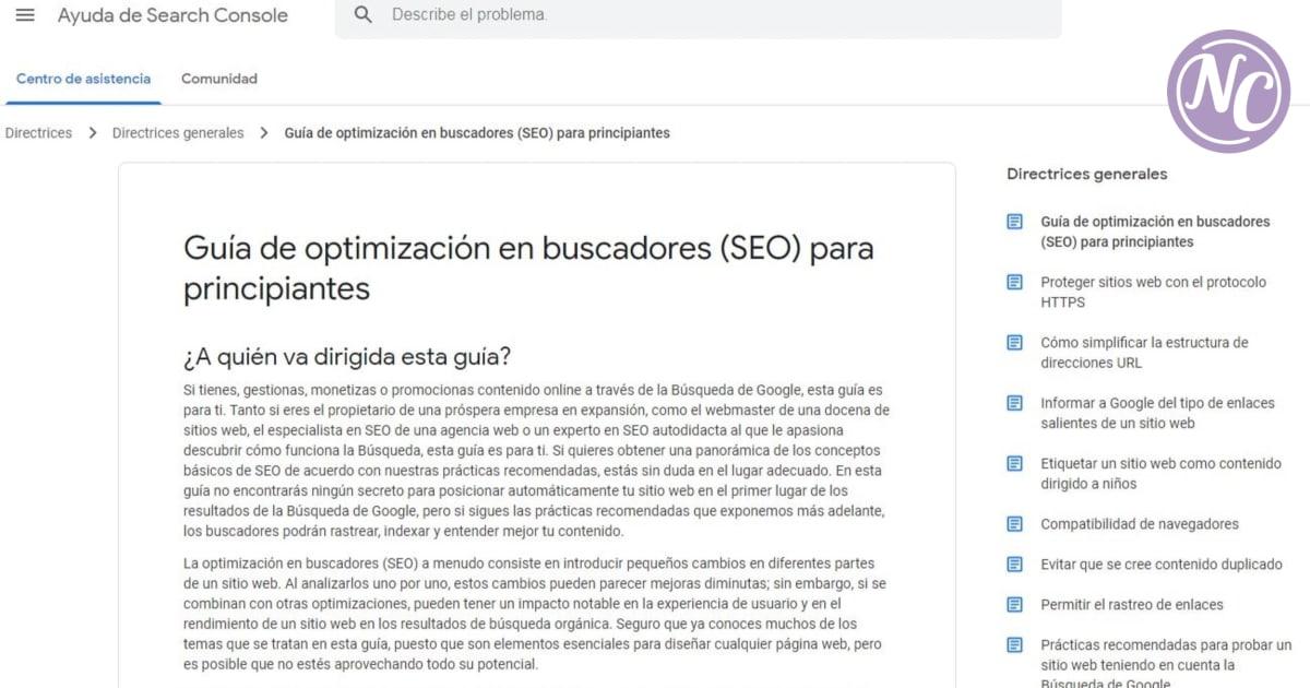 guía seo para principiantes de google webmasters