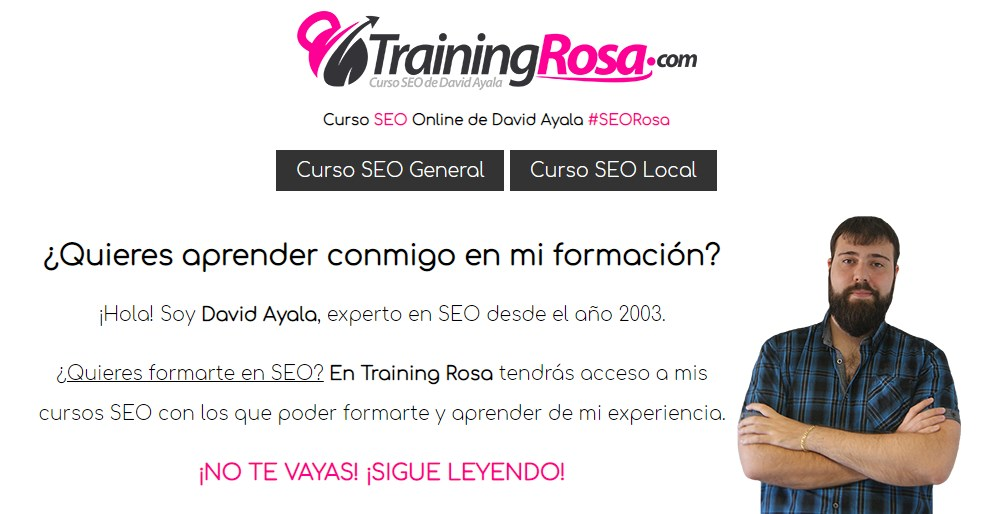 training rosa de David Ayala