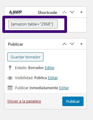 amazon table aawp