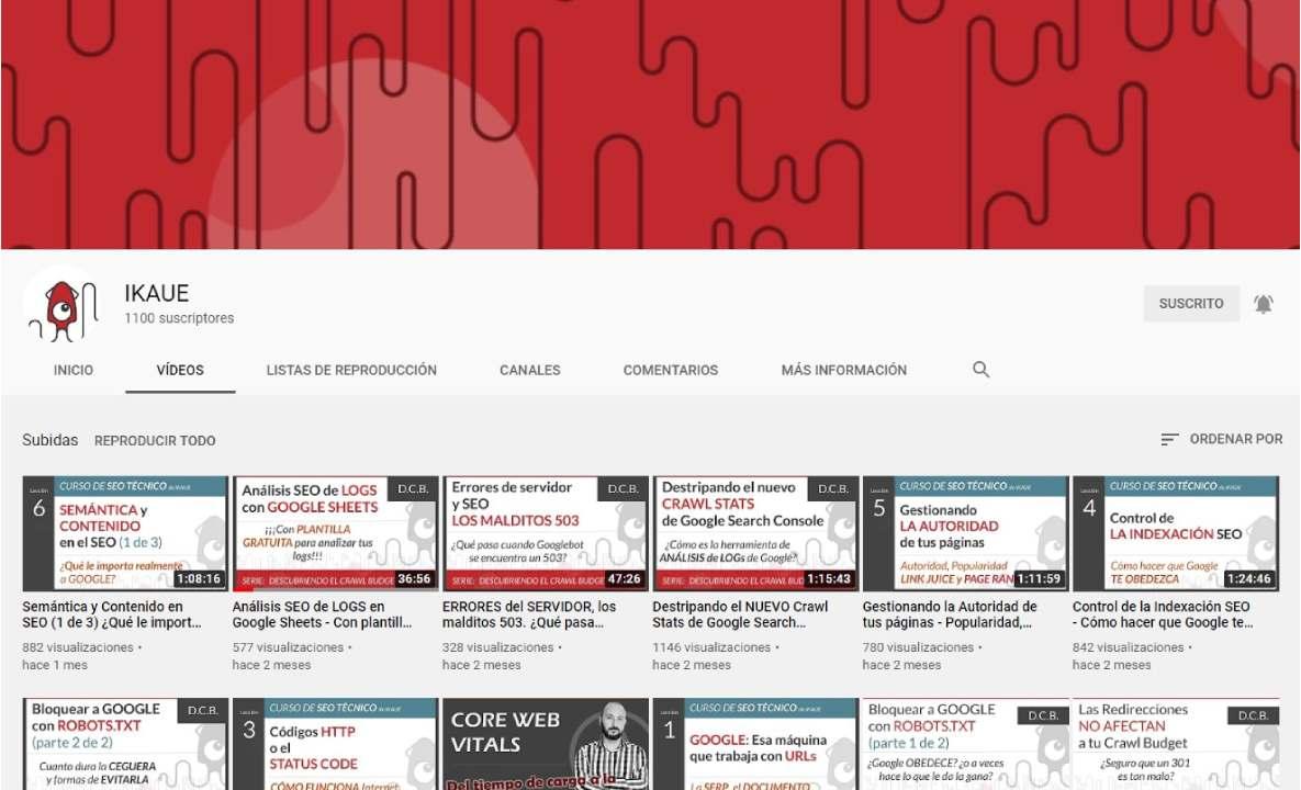 curso de seo técnico en youtube