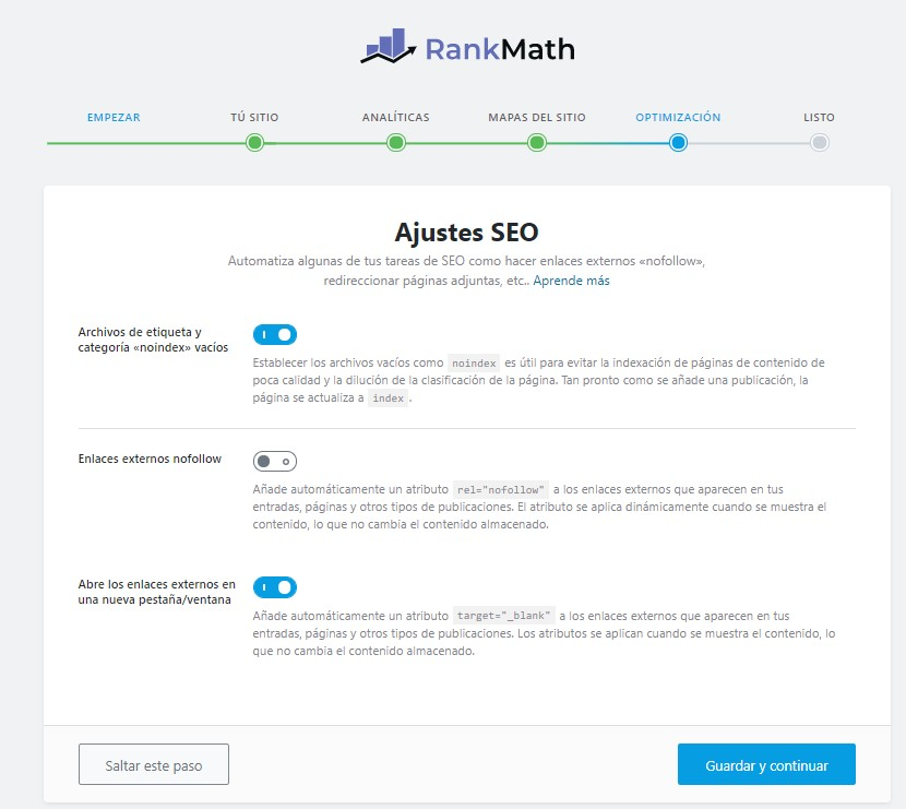 configurar rank math 5
