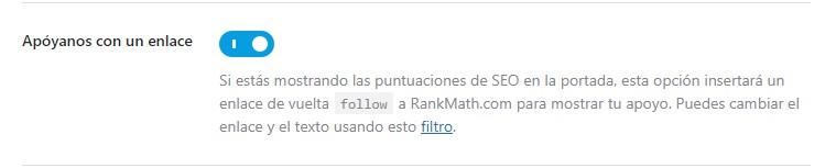 enlace de apoyo a rank math