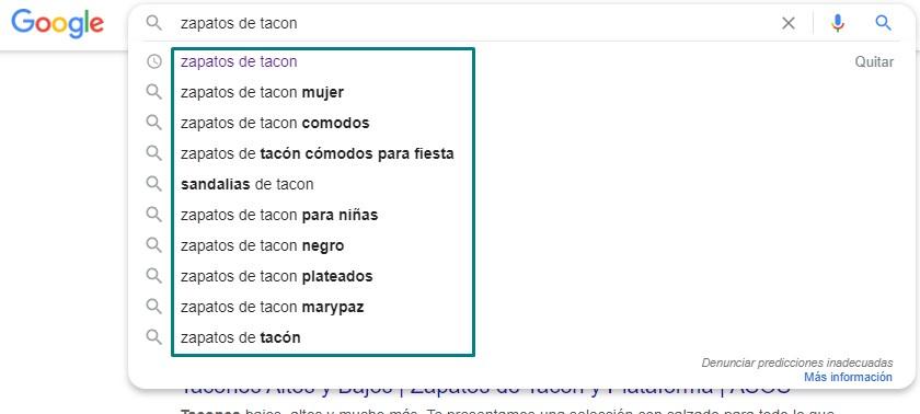 autosuggest palabras clave google